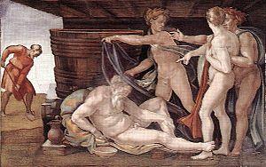 300px-Michelangelo_drunken_Noah
