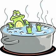Image result for frog in the pot images